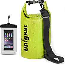 Unigear Floating Waterproof Dry Bag 600D 2L/5L/10L/20L/30L/40L, Floating Dry Gear Bags for Boating, Kayaking, Fishing, Swimming and Camping with Waterproof Phone Case
