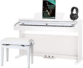 Classic Cantabile DP-50 WM piano, blanco mate, con banqueta, auriculares