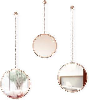 Umbra Copper Dima, Set of 3, Trio Mirrors Apartment Decor/Wall Art Decor