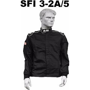 RJS FIRE Suit Jacket Black 3X Racing 2 Layer Elite SFI 3.2A//5 IMSA SCCA ARCA