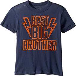 Extra Soft Cotton Best Big Brother Print Short Sleeve Tee (Toddler/Little Kids)