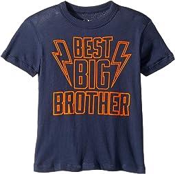 Extra Soft Cotton Best Big Brother Print Short Sleeve Tee (Toddler/Little Kids)