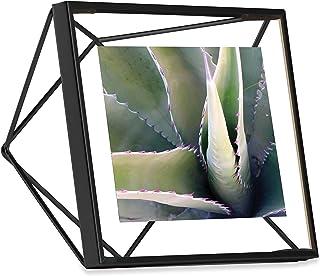 Umbra Moldura Prisma, exposição de foto 4x4 para mesa ou parede, preta