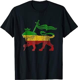 Vintage Lion Of Judah Rasta Reggae Jamaica Roots T Shirt Tee