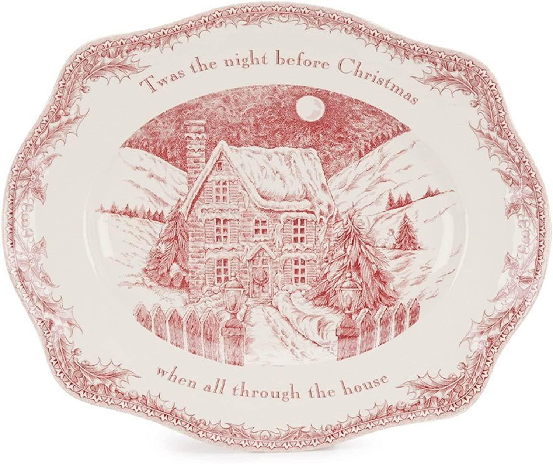 Johnson Bredhers Twas the Night 15  Oval Platter