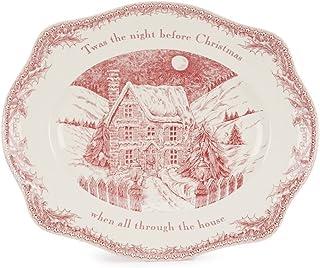 """ジョンソンBrothers食洗機/電子レンジ対応"""" Twas the Night 16"""" Oval Platter"""