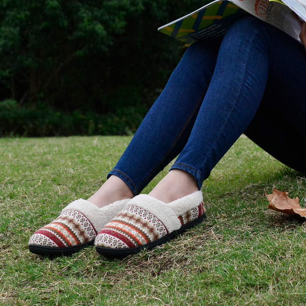 RockDove Womens Nordic Slipper with Memory Foam