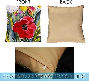 Toland Home Garden 761219 Tulip Garden 18 x 18 Inch Indoor/Outdoor, Pillow Case (2-Pack)