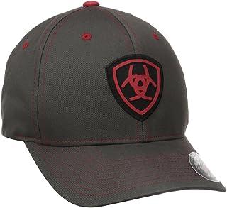 قبعة رجالي رمادية حمراء مرنة من Ariat