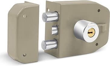 Hermex CS-92, Cerradura de sobreponer máxima seguridad con dos barras, llave de puntos
