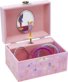 (Fairy and Flowers) - JewelKeeper Girl's Musical Jewellery Storage Box with Twirling Fairy, Flower Design, Dance of The Sugar Plum Fairy Tune