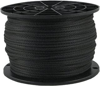 Black Dacron Polyester Rope 1/4