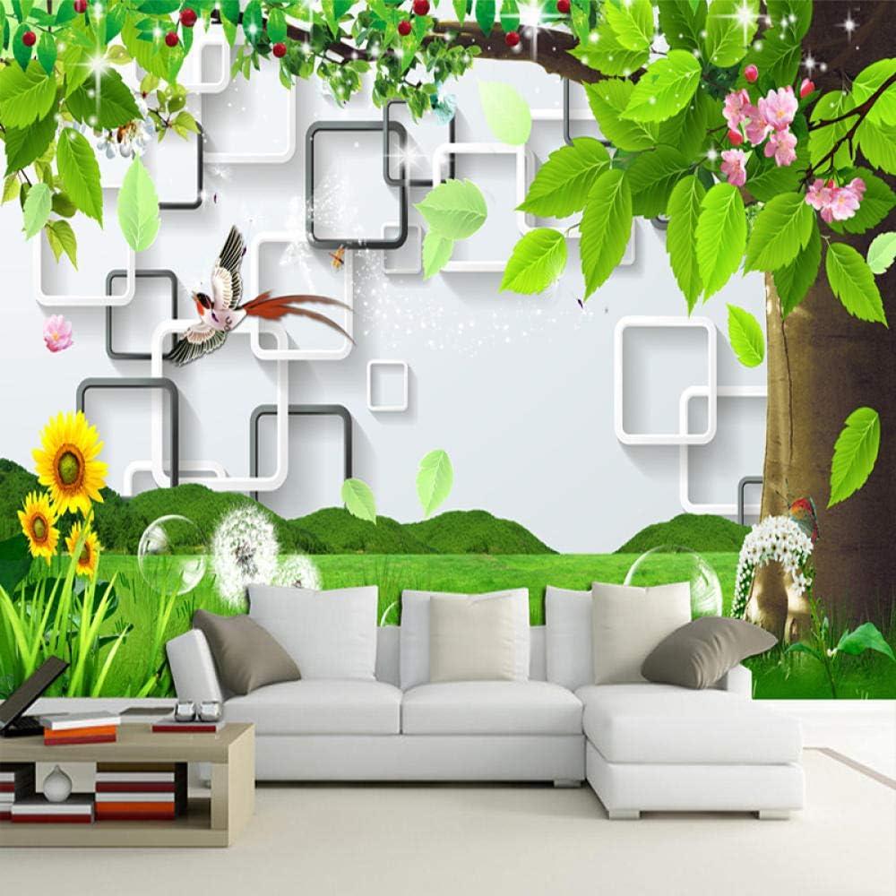 Ansyny 3D Tampa Mall Wallpaper Modern Fashion Landscape Pai Lattice 67% OFF of fixed price Tree