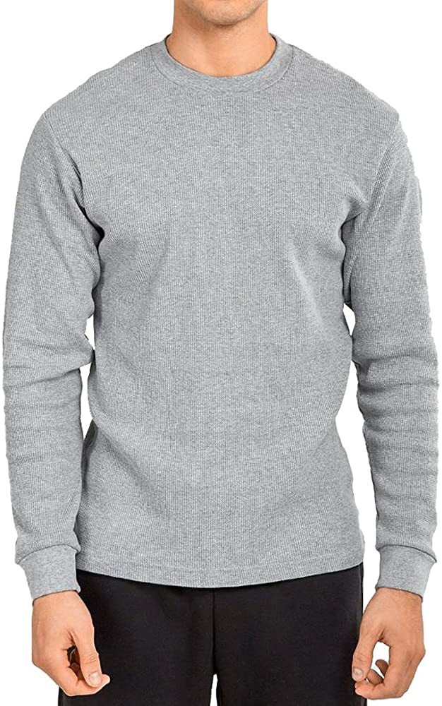Men's Classic Fit Waffle-Knit Heavy Thermal Shirt