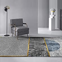 Abstract Printed Carpet, Vacuum Non-Slip Living Room Mats Washable 8Mm Ink Painting Style Rug,D,80X160cm