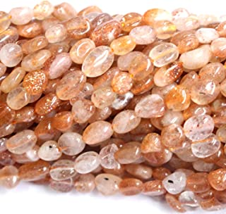 Natural Sunstone Gemstone Beads 6-8mm Nuggets Free Size Chips Semi Precious Beads for DIY Jewerly Making Beads