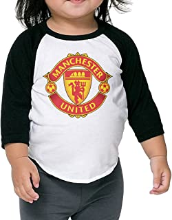 Manchester United FC Football Unisex Kids Organic Toddler 3/4 Sleeve Baseball Tee