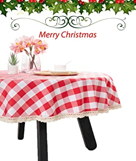 Best round gingham table cloths Reviews