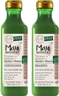 Maui Moisture Thicken & Restore & Bamboo Fibers Shampoo & Conditioner Set 19.5 Ounce