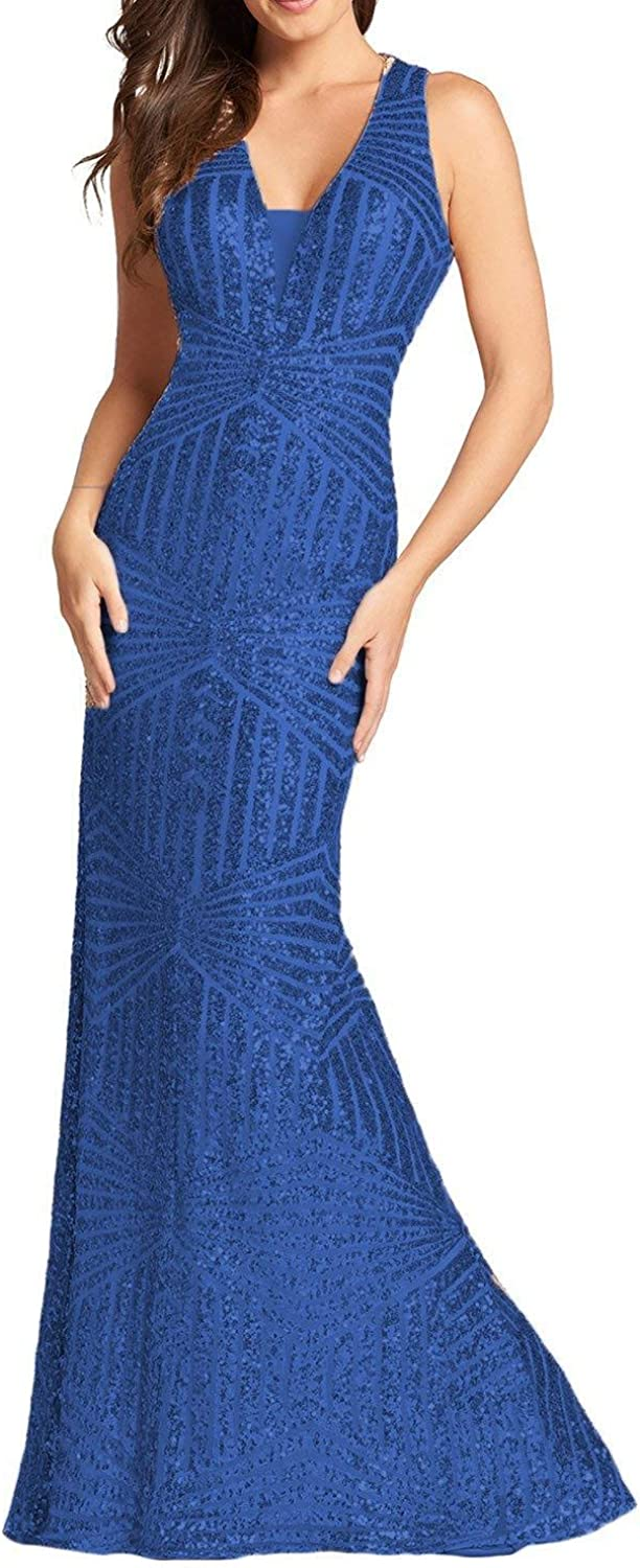 PromC Women Sparkly Sequins Long Forma Dresses 2020 Prom メーカー直送 国産品 Mermaid