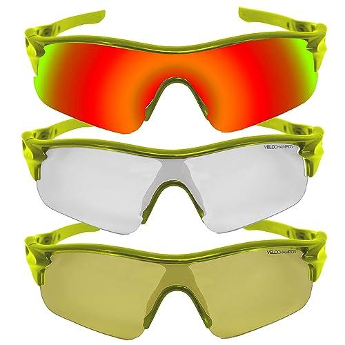 VeloChampion Warp Cycling Driving MTB Hybrid Sunglasses Running Shooting Sports Glasses