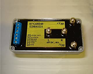 Vsholding I/O isolated H-Bridge rated 60VDC, 40A for PWM driving DC motors, etc