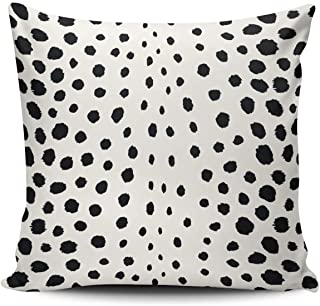 Fanaing Chic Black White Cheetah Print Pattern Pillowcase Home Sofa Decorative 20x20 Inch Square Throw Pillow Case Decor Cushion Covers One-Side Printed
