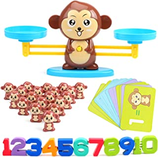 Monkey Balance Cool Math Game, Math Manipulatives, Educational Kids Counting Games Stem Learning toys Ages 3