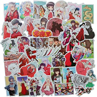 Inuyasha Sticker Pack of 50 Stickers - Waterproof Durable Stickers Classic Japanese Anime Stickers for Water Bottles Computers Laptops (Inuyasha)