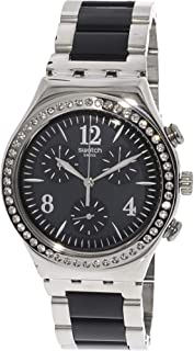 Swatch Made in Black YCS118G Silver Stainless-Steel Swiss Chronograph Fashion Watch