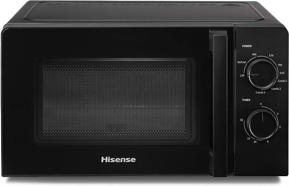 hisense  forno microonde meccanico, capacità 20 l, potenza 700 w, grill h20mobs1hg