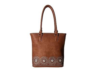 M&F Western Rhianna Tote (Brown) Tote Handbags