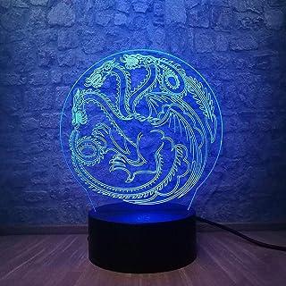 3D LED Nachtlichter Stark Tischlampe Schreibtischlampe Game of Thrones Bettlampe
