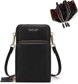 myfriday Handytasche für Damen Kleine Umhängetasche Crossbody Bag Schultertasche Handtasche Brieftasche mit 3 Haupttaschen...