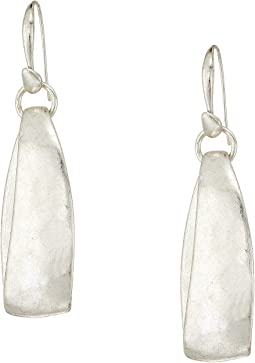 Silver Drop Hoop Earrings