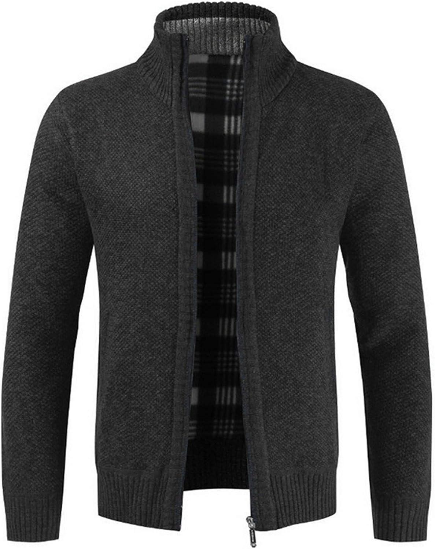 Men Thick Sweater Cardigan Slim Fit Knitwear Outerwear Warm Winter Sweater Jumper
