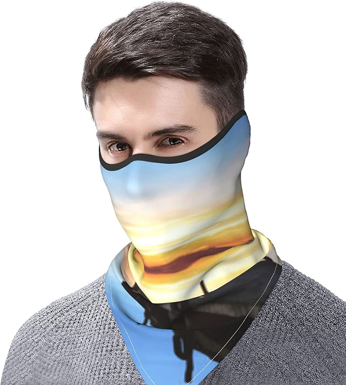 Sea Ocean Bird sunset Landscape Print Breathable Bandana Face Mask Neck Gaiter Windproof Sports Mask Scarf Headwear for Men Women Outdoor Hiking Cycling Running Motorcycling