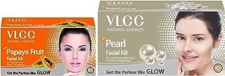 VLCC Papaya Fruit Facial Kit, 60g and VLCC Natural Sciences Pearl Facial Kit, 60g