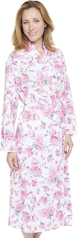 Cyberjammies 1310 Women's Nora pink Pearl Grey Floral Dressing Gown