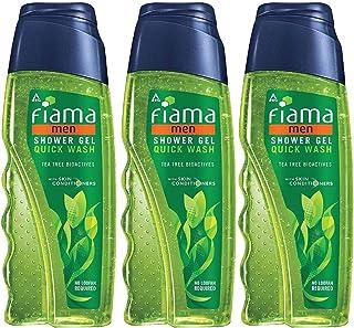 Fiama Shower Gel Quick Wash For Men, Bodywash with Tea Tree Bio Actives, 250 ml (Combo pack of 3)