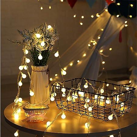 イルミネーションライト led ストリングライト フェアリーライト 電飾led 6M40個LED 電池式 電球色 防水防雨 屋内・屋外兼用 クリスマス 飾り ベッドルーム・アウトドア・結婚式・庭・パーティー 装飾 (Gold)