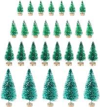 TOYANDONA 37pcs Mini Christmas Tree Xmas Sisal Tree Model Holiday Table Desk Miniature Tree Figurines Party Decoration Sup...
