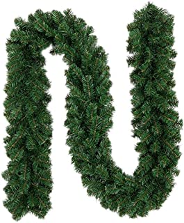 Christmas Wreaths Garland Decorations 2.7M Artificial Xmas Ornaments Wall Door Stairs Indoor Outdoor Decor