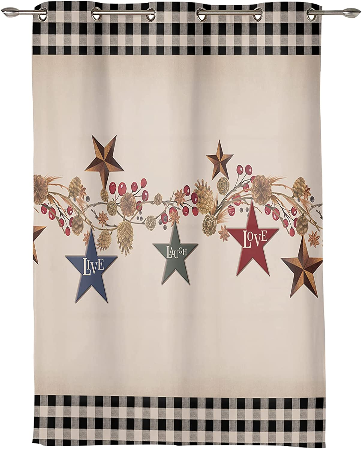 Rustic American Berry Outstanding specialty shop Live Laugh Decor Curtain Grommet Love Home