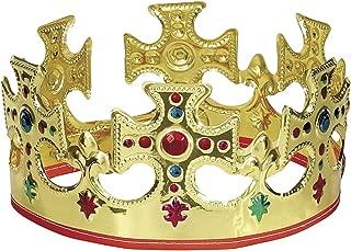 王冠 コスプレ かぶりもの 大人 子供 王様 仮装 変装 男女兼用 穴あき式