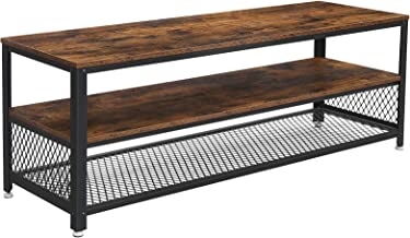 VASAGLE BRYCE TV Stand, Lengthened TV Cabinet, Console, Coffee Table with Metal Frame, Wood-Like Grain, Industrial for Liv...