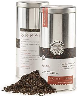 Golden Moon Tea - Pu-erh Tea - Organic - Loose Leaf - Non GMO - 3oz Tin - 19 Servings