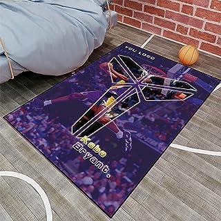 Tritow USA NBA Basketball Tapis L.A NBA Kobe Bryant Salon Tapis antidérapant Facile à Nettoyer Tapis de Zone d'impression ...