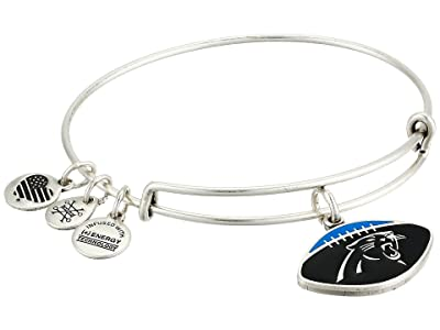 Alex and Ani Color Infusion Carolina Panthers Football II Bangle (Rafaelian Silver) Bracelet