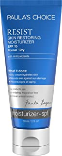 Paula's Choice RESIST Skin Restoring Moisturizer w/SPF 15, 2 oz Tube with Shea Butter and Niacinamide Broad Spectrum Sunscreen for the Face, Dry Sensitive Skin